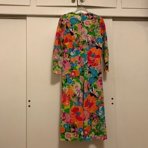 70s psychedelic floral dress